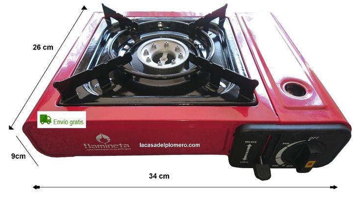 estufa portátil para campísmo encendido automático sin pilas