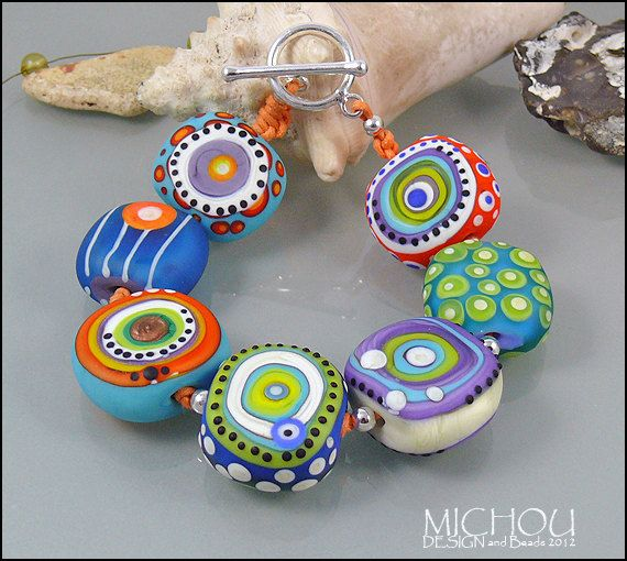 bright lights nr 2 lampwork glass bead bracelet by no bracelet is worth