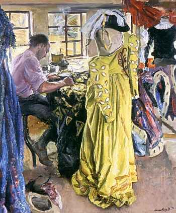 The Yellow Dress by Dame Laura Knight