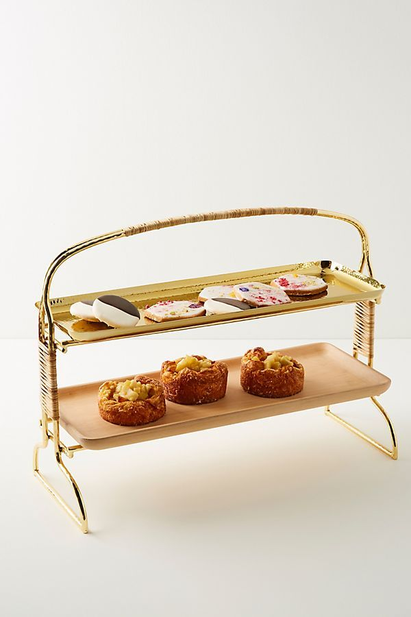 Affara Serving Stand Anthropologie Tiered Stand Square Tray
