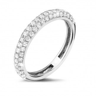 Witgouden Diamanten Ringen - 0.65 caraat diamanten alliance in wit goud
