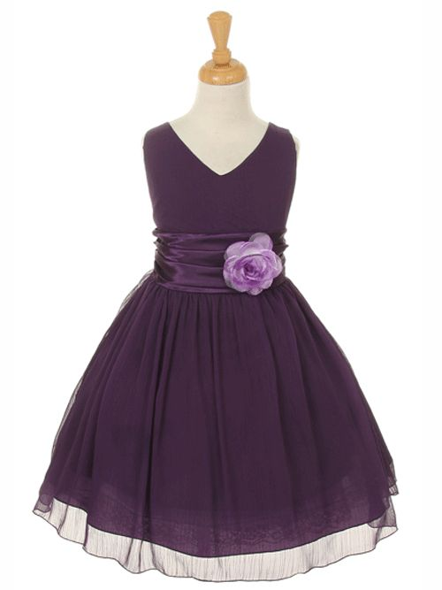Graduation Dress with Pin-on Flower