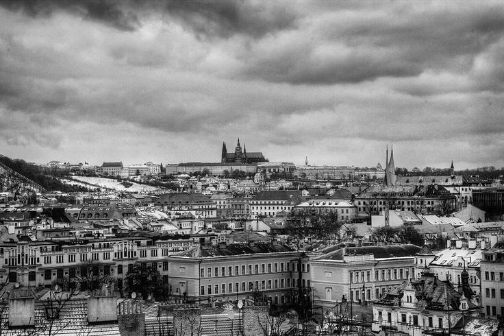 Prague Castle from Vysehrad by Romana Wyllie