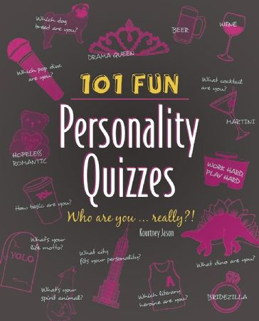 Who is your celebrity soul mate? What city should you live in? How big a drama queen are you? The answers to these questions and more are all revealed in 101 Fun Personality Quizzes It isn't exactly Myers Briggs, but it is the ultimate personality, pop-culture, and lifestyle quiz book that's sure to uncover secrets, reveal truths, and keep readers enthralled question after question.