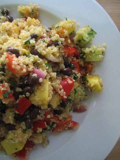 Curried Quinoa Salad with Mango and Black Beans