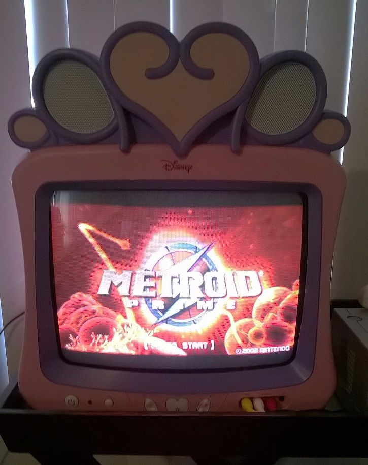 I wanted to play Metroid Prime but my 'fancy' TV wouldn't display my Gamecube. One trip to Goodwill later and I'm good to go!