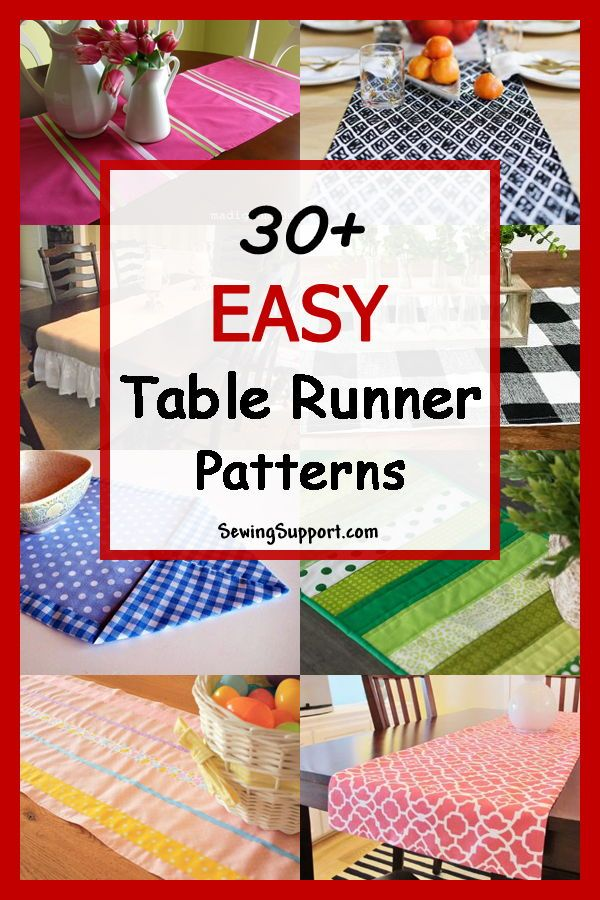 Over 30 Free And Easy Table Runner Sewing Patterns Tutorials And