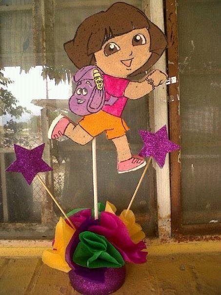 Dora the Explorer Centerpiece Exploradora Centro de mesa
