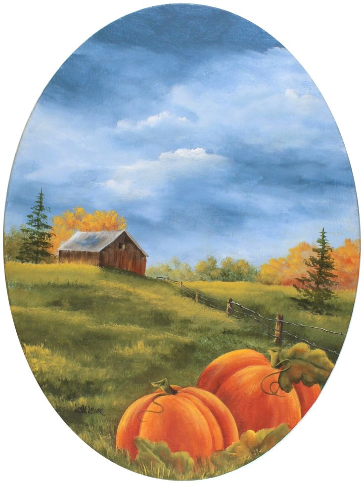 PUMPKIN HARVEST PAINTING Artist: Linda Lover Download Project Linda used the new La Corneille Innovative Brush Shapes to paint this beautiful fall painting. They can be used not only in decorative painting but also in more traditional-style painting.