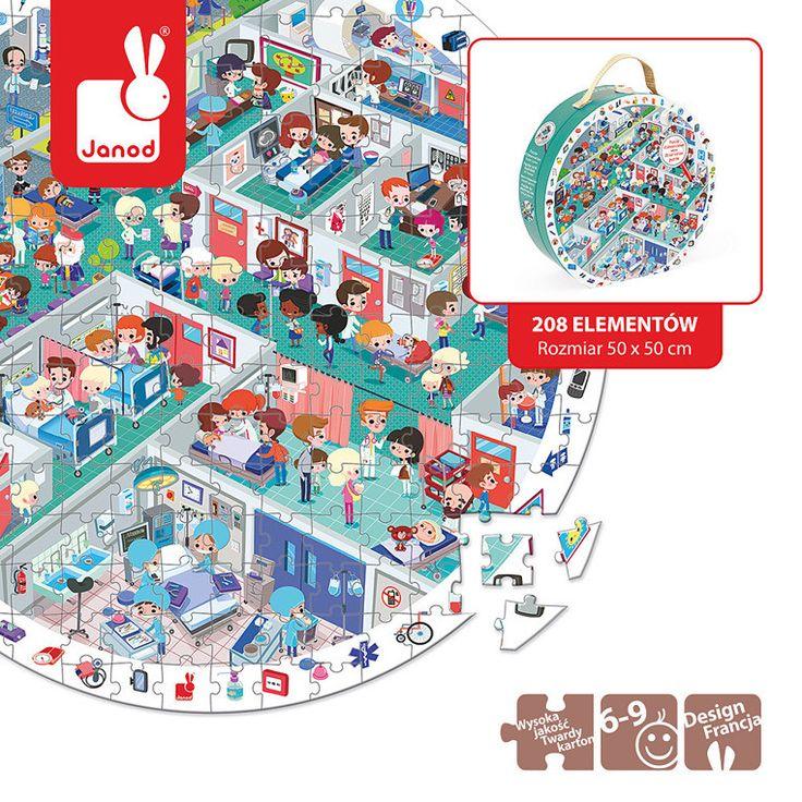 Janod - Puzzle Obserwacyjne w Walizce Szpital