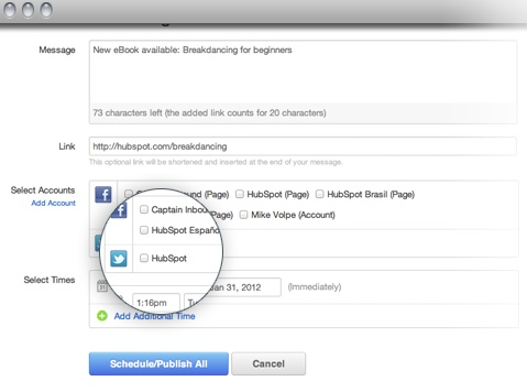 Manage multiple social accounts at once - post now or schedule tweets, Facebook posts, LinkedIn updates - the whole shebang!