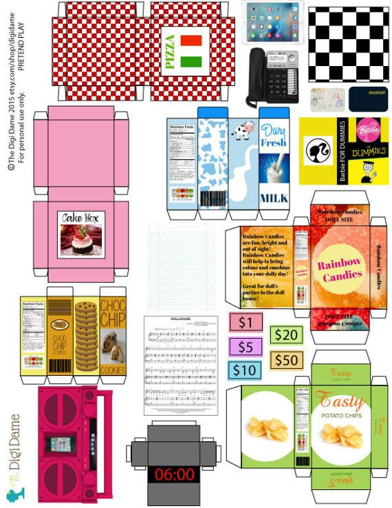 Playscale 16 Dollhouse Printables Instant Download