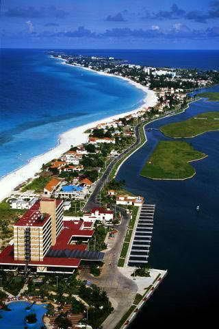 Famous resort of Varadero Beach . Cuba. Many cyclists ride the length of this peninsula, its about 30 km each way.