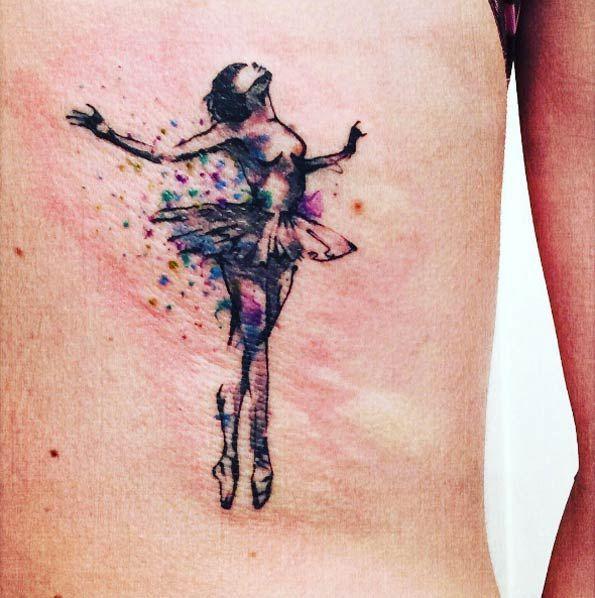 Ballerina on back by Giorgio Foiadelli