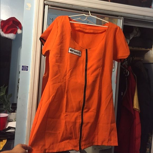 Orange woman inmate costume Orange costume only worn once - size x large. Dresses