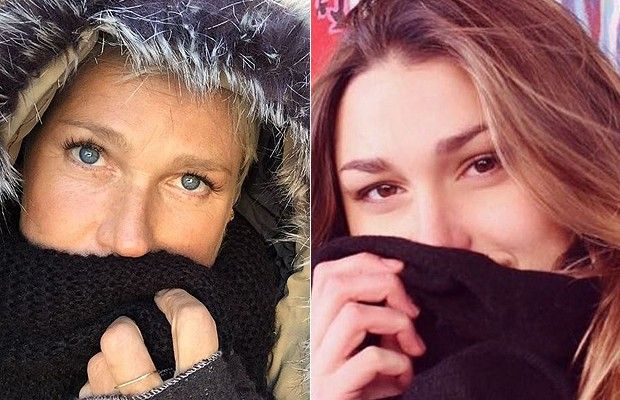 Xuxa e Sasha são iguais até na hora de fazer selfie!  (Foto: Reprodução Instagram )