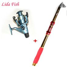 2 4m2 7m3 6m Telescopic Fishing Rod and 4000series Fishing Reel Wheel Portable Travel Fishing Rod
