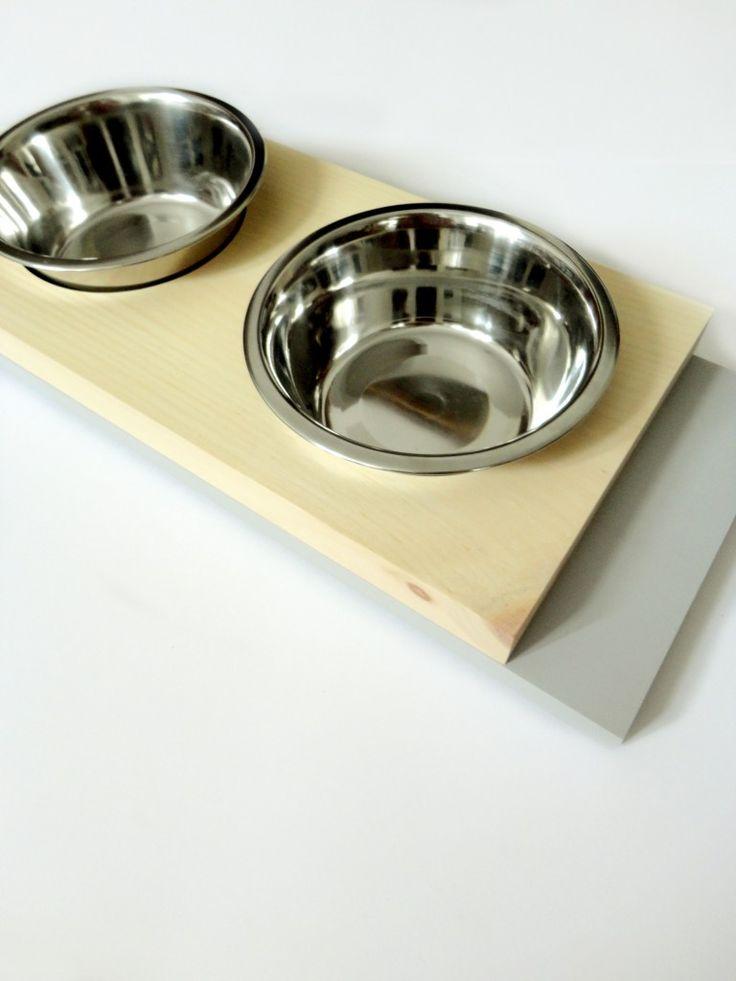 Scandinavian dog feeder. Pine & grey.  #minimal #scandinavian #design #petstyle #decoration #homedecor #dogs