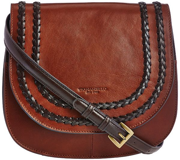 Vintage sophistication. With such a versatile style, this leather Tignanello saddle bag defines classic chic. QVC.com