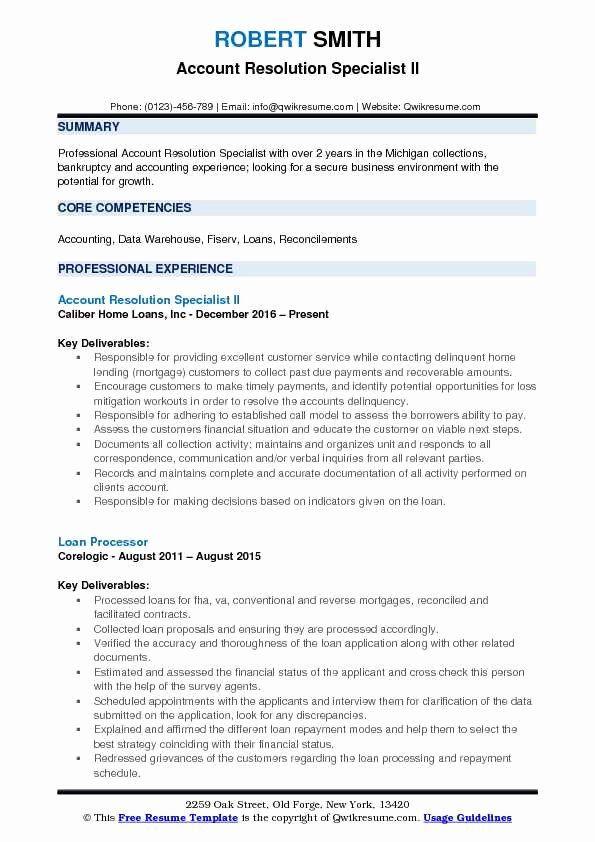 Production Assistant Job Description Resume Beautiful Account Resolution Specialist Resume Samples