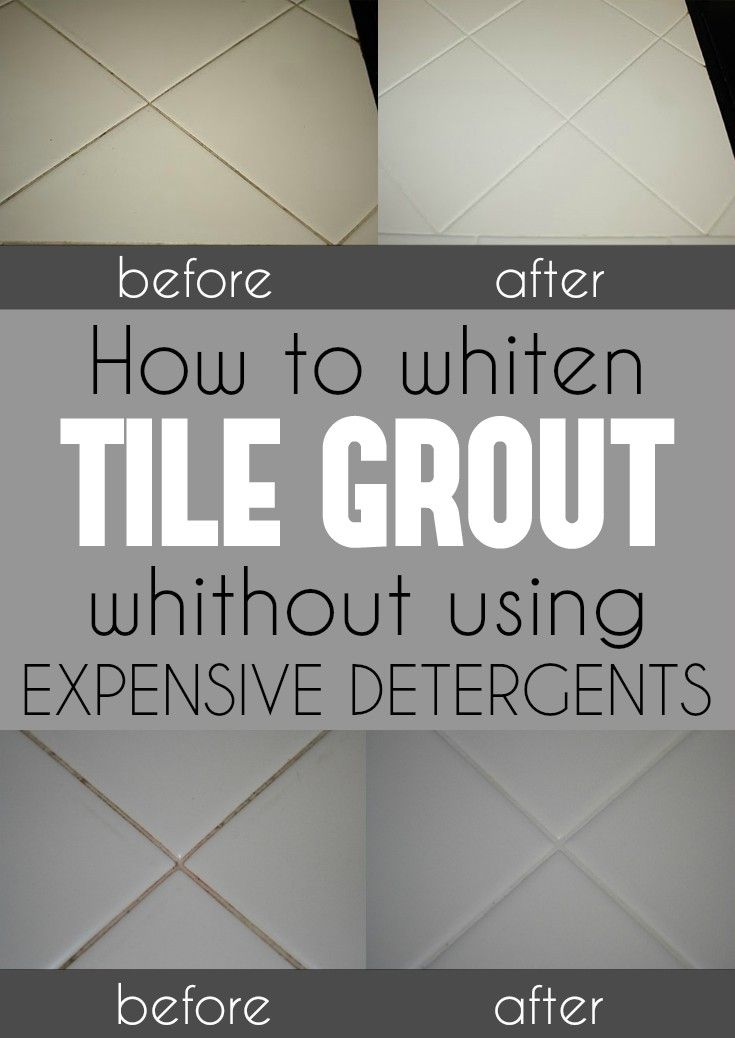 Learn how to whiten tile grout without using expensive detergents.