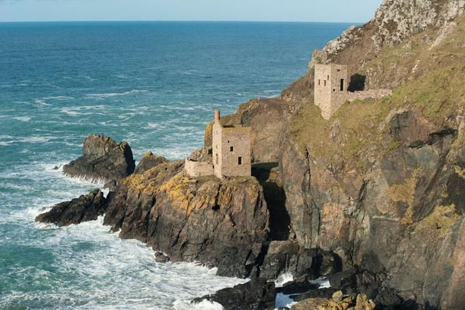 Poldark film location, west Cornwall, old ruined mines.