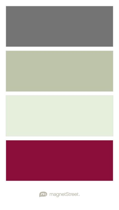 Charcoal, Sage, Mint, and Burgundy Wedding Color Palette - custom color palette created at MagnetStreet.com