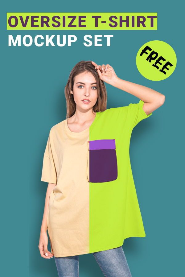 Download Woman Oversize T Shirt Mockup Set Clothing Mockup Shirt Mockup Clothing Templates