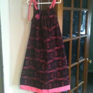 Black and hot pink pillowcase style dress: Pillowcase Style, Diy Crafts, Hot Pink