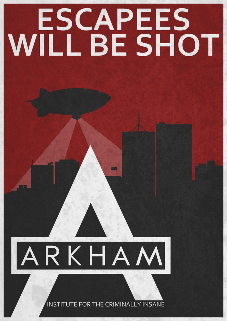 Arkham City Propaganda by Mark Thomson.