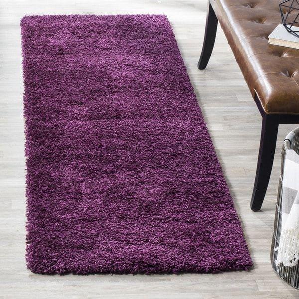 Safavieh California Cozy Plush Purple Shag Rug (2'3 x 7')