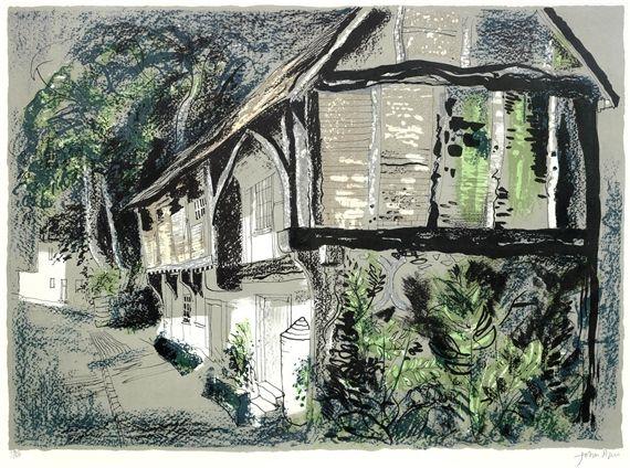 ✽   john piper  -   'courthouse, long crendon, buckinghamshire'  -   1978   -   lithograph