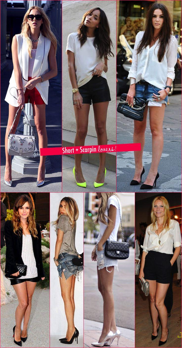 Na prática: short e scarpin! - Fashionismo
