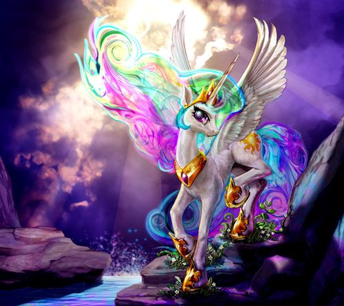 Fan Art of Beautiful Celestia art for fans of My Little Pony Friendship is Magic. so awesomly painted