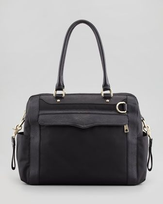 Husband please..... Knocked Up Nylon Diaper Bag, Black by Rebecca Minkoff at Neiman Marcus.