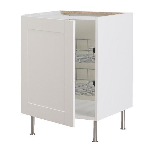 FAKTUM Base cabinet with wire baskets IKEA Smooth-running wire baskets with pull-out stop. Ideal for storing things like pots, pans and cont...