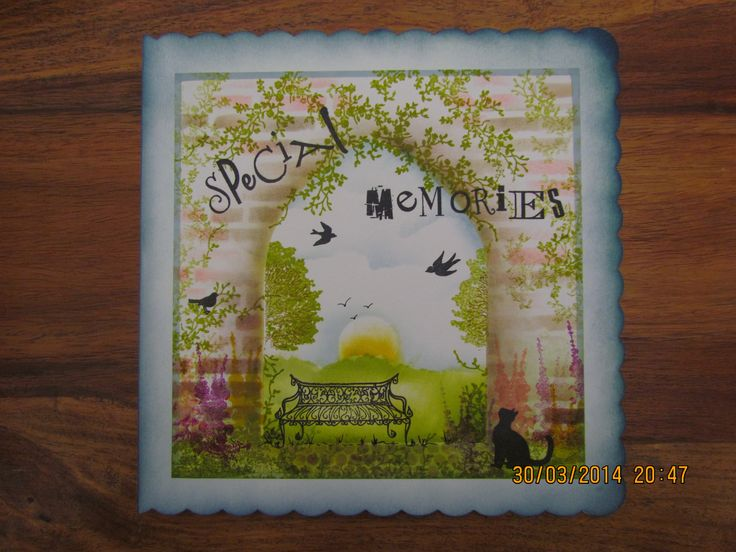 """""""Special memories"""" using Clarity stencils & stamps"""