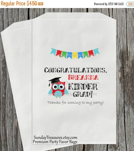 Summer Sale 10 PAK Owl Kindergarten GRADUATION by SundayTreasures