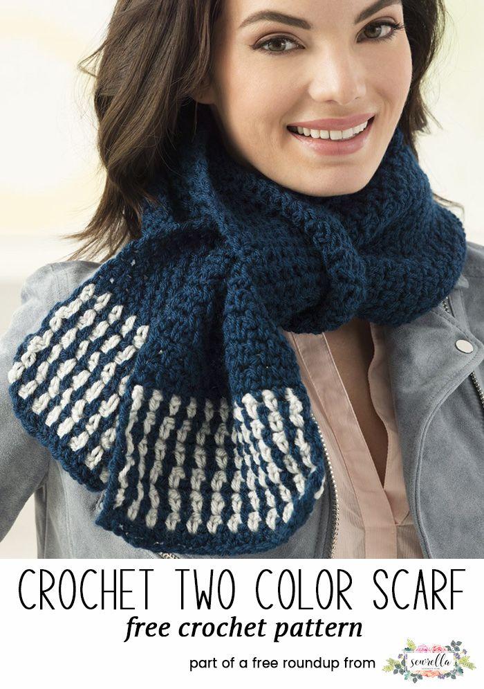 Top 20 Crochet Scarf Patterns Sewrella Pinterest Crochet