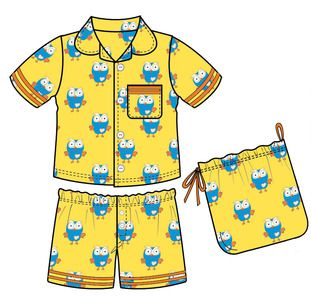 Giggle and Hoot - Yellow Summer Pyjamas. $29.99
