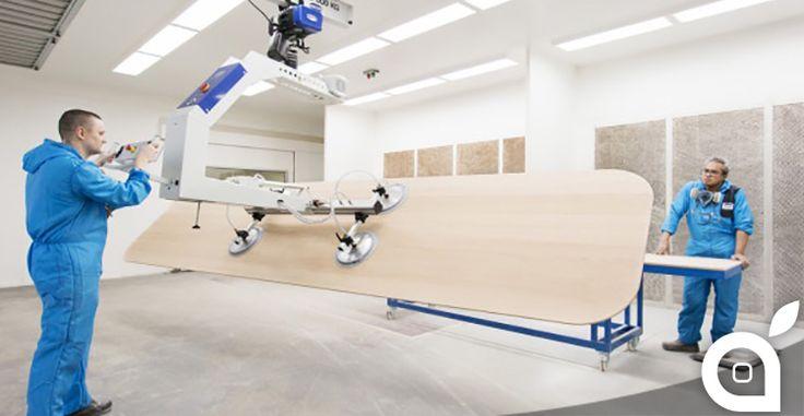 Svelato il primo elemento degli interni dellApple Campus 2: tavoli in legno lunghi 55 metri