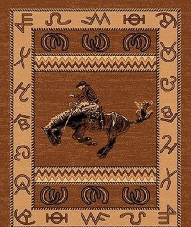 The Bucking Bronco Rider Western Area Rug Is The Perfect Way To Up The  Giddy Up Into Your Spicy Cowboy Decor With Rope And Equestrian Flair.