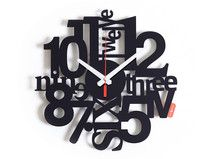 Zegar ścienny ze stali z efektem 3D, LOAD, 30cm