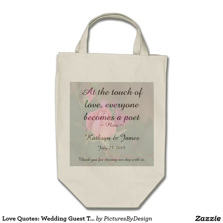 Quotes For Wedding Gift Bags : ... gift bag for thank you gifts for the wedding party, or as welcome bags