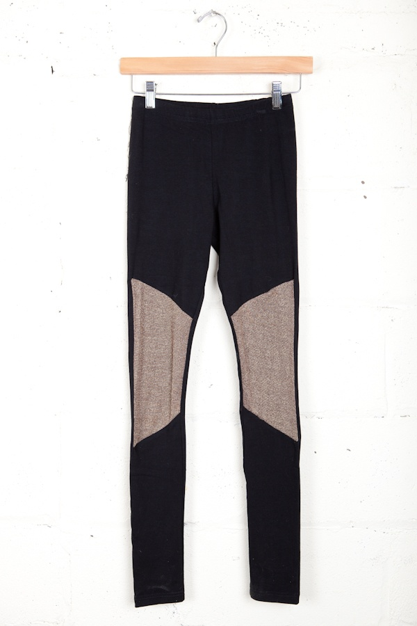 My girl Melanie could totally rock these...Gold Knee Patch Leggings