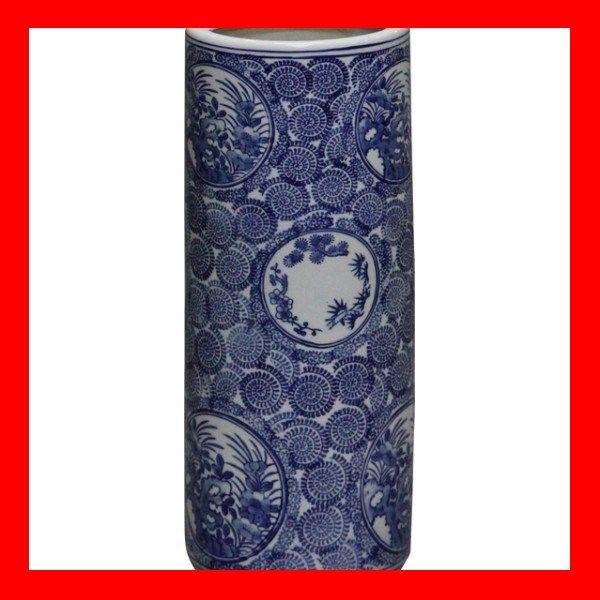 陶器傘立て SG054C 【アンティック商品 染付け陶器】 【ニトリ、IKEA、イケア、無印良品にも匹敵する商品数】【楽天市場】