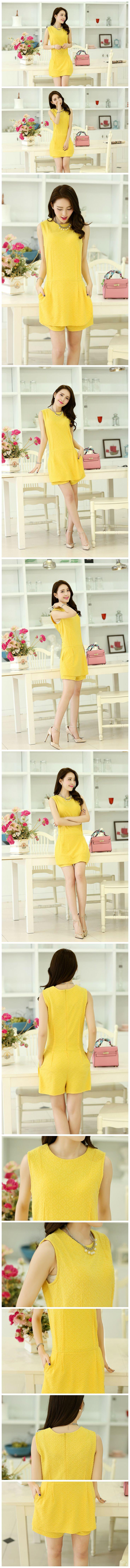 yellow shorts, jumpsuit playsuit  ghl0222, yrb, fashion, yrbfashion, cute dress, uk europe usa style, asian fashion, asian style clothing, a...