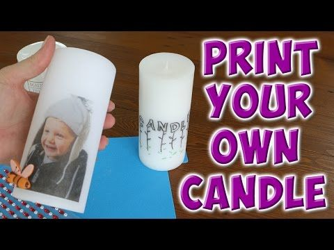 transfer a photo to a candle - YouTube