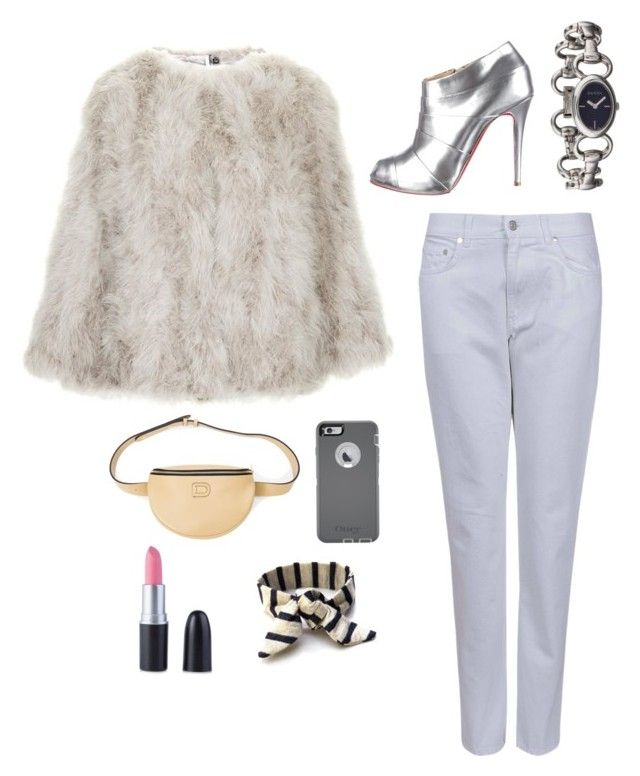 """""""Cloudy Splash"""" by dinyvia on Polyvore featuring Topshop, Acne Studios, Christian Louboutin, Delvaux, Gucci, OtterBox and polyvoreeditorial"""