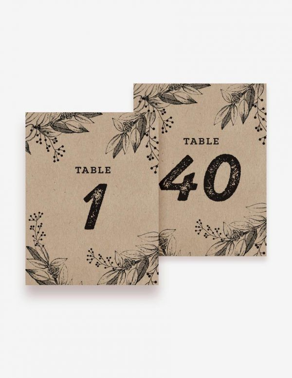 Rustic wedding reception table number. Shop this easy printable design only at www.inatondesign.com